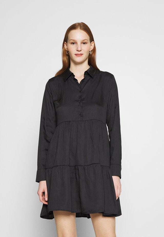 RAISED WAIST SMOCK DRESS - Abito a camicia - black