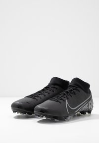 Nike Performance - MERCURIAL 7 ACADEMY FG/MG - Moulded stud football boots - black/metallic cool grey/blue fury/cool grey - 2