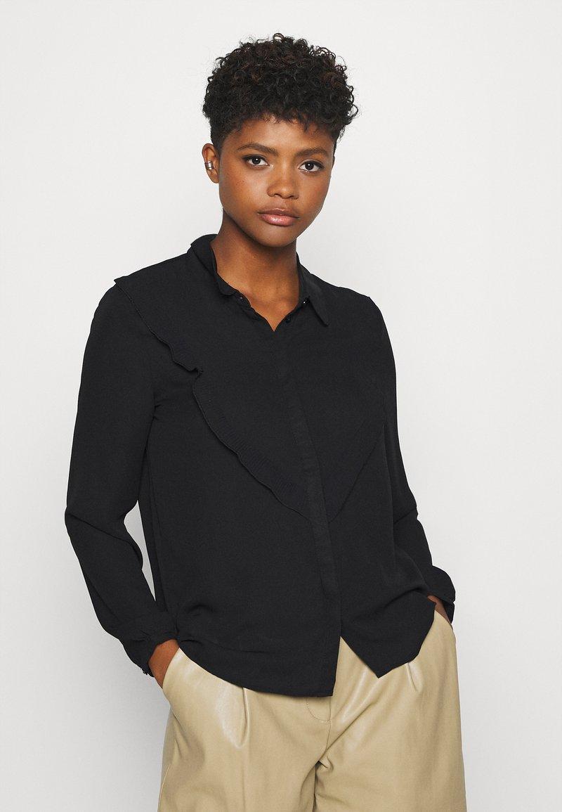 JDY - JDYMYNTHE - Button-down blouse - black