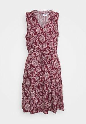 ZEN DRESS - Denní šaty - burgundy