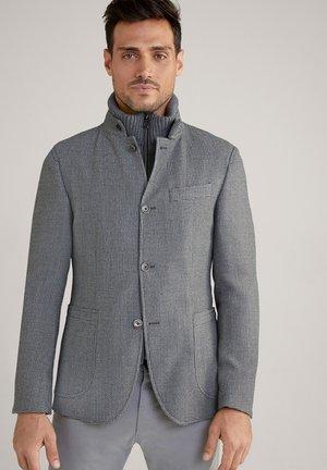Blazer jacket - hellgrau strukturiert