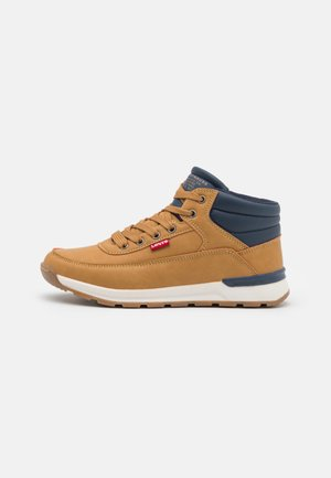 ASCOT MID - High-top trainers - camel/navy