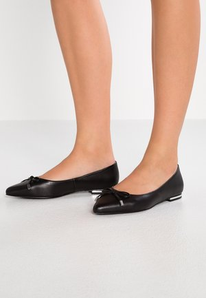 LEATHER BALLERINAS - Ballet pumps - black