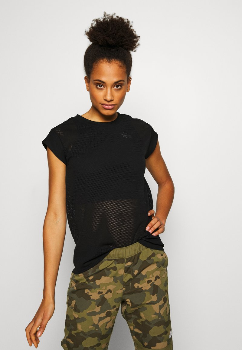 The North Face - WOMENS ACTIVE TRAIL - Print T-shirt - black
