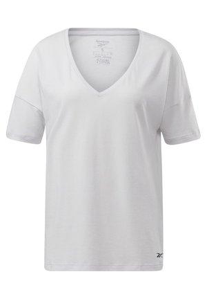 ACTIVCHILL+COTTON T-SHIRT - T-shirt z nadrukiem - white