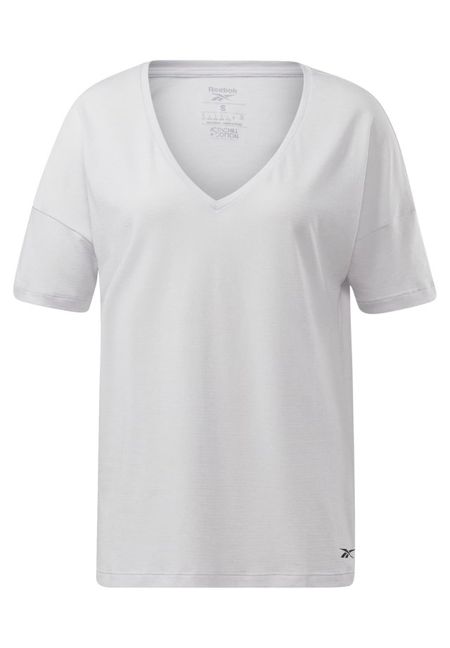 ACTIVCHILL+COTTON T-SHIRT - Print T-shirt - white