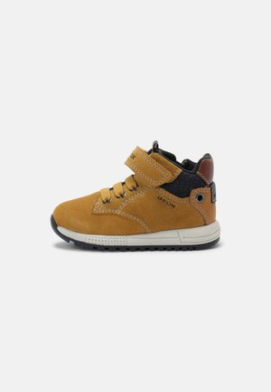 ALBEN BOY - Baby shoes - yellow/navy