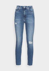 HIGH RISE SKINNY ANKLE - Jeans Skinny Fit - denim light