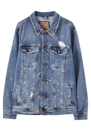 MIT ZIERRISSEN - Giacca di jeans - light blue