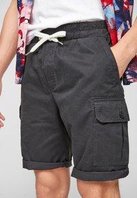 Q/S designed by - REGULAR FIT - Shorts - dark grey - 3