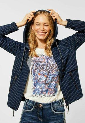 MIT NADELSTREIFEN - Zip-up hoodie - blau
