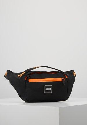 SHOULDER BAG - Bum bag - black/orange