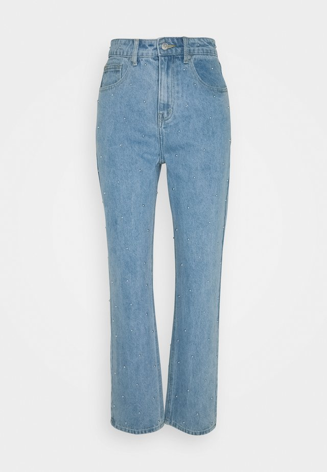 STUD JEAN - Relaxed fit -farkut - light blue