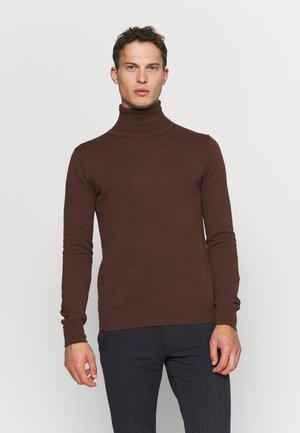HENRIK ROLL NECK - Jumper - dark chocolate