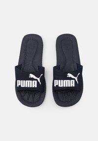 Puma - PURECAT UNISEX - Sandalias planas - peacoat/white - 3
