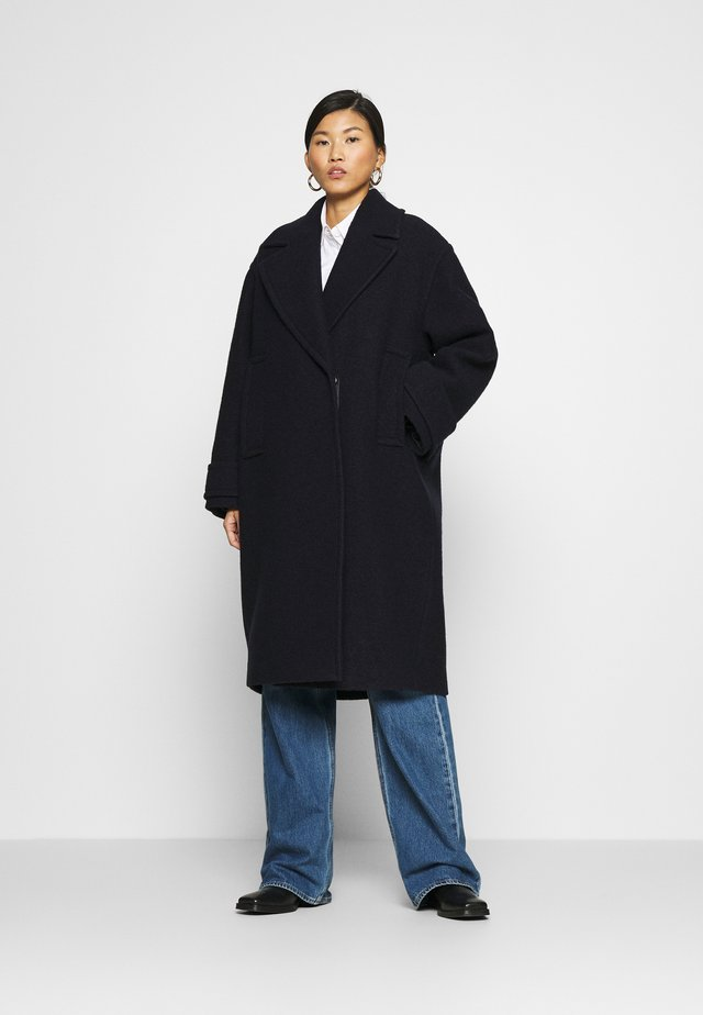 EGG SHAPED COAT - Classic coat - navy blue
