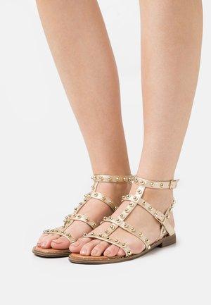 Sandals - laminato platino