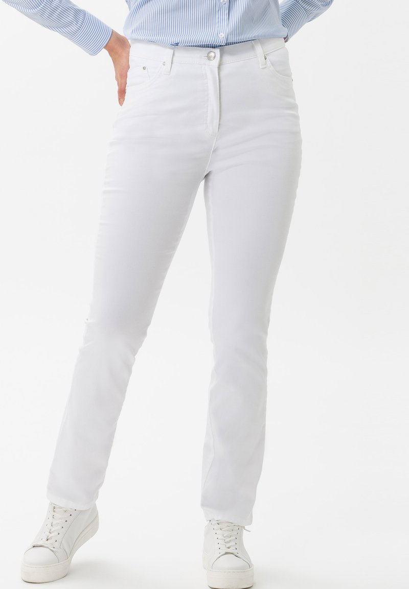 BRAX - STYLE INA - Slim fit jeans - white
