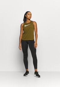 Nike Performance - RUN TANK - Funktionsshirt - olive flak/white - 1