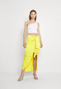 River Island - Jupe trapèze - yellow bright - 1