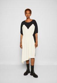 MM6 Maison Margiela - DRESS - Cocktail dress / Party dress - black/off white - 0
