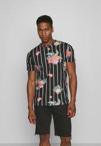 Brave Soul - CATTLEYA - Print T-shirt - jet black - 0