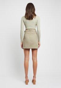 Kookai - A-line skirt - p8-moss gray/vert mousse - 2