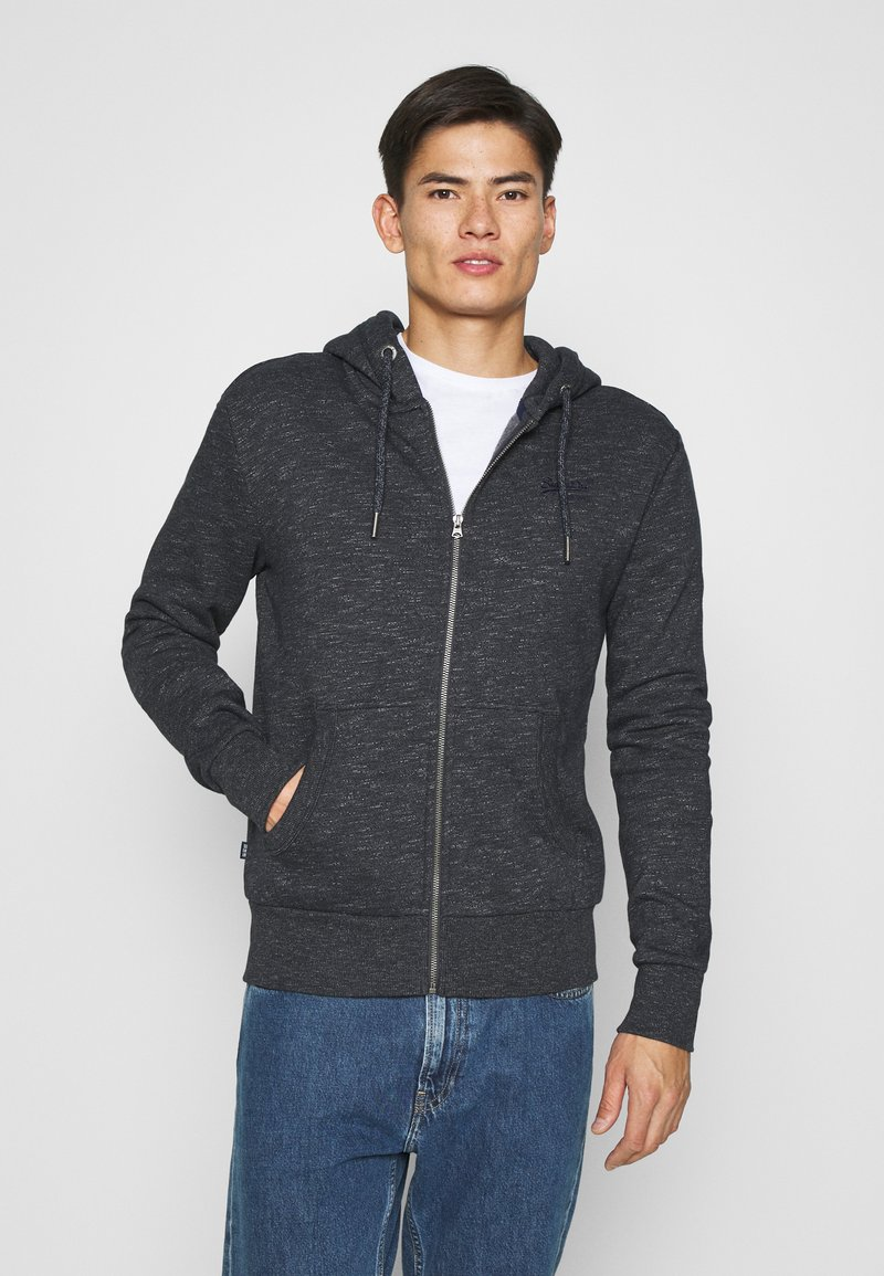 Superdry - ORANGE LABEL - Zip-up hoodie - eclipse navy feeder