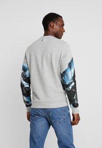 TOM TAILOR - CREW NECK WITH MOUNTAIN  - Sweatshirt - middle grey melange - 2