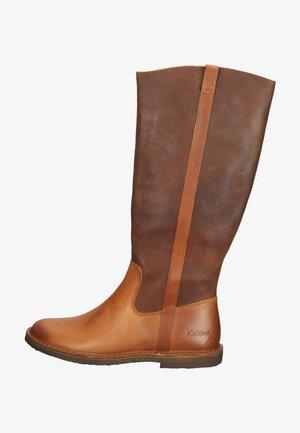 Boots - orange camel