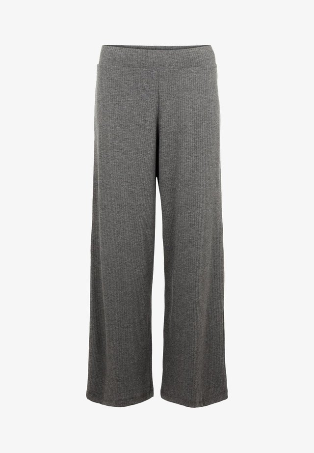 MIT WEITEM BEIN - Trousers - dark grey melange