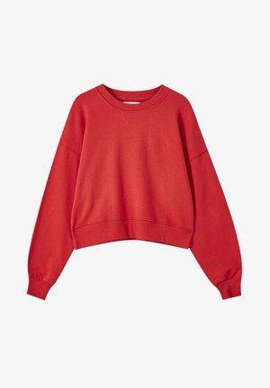 MIT BREITEM PATENTMUSTER - Sweatshirts - red