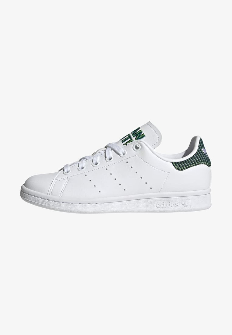 adidas Originals - STAN SMITH J UNISEX - Sneakers laag - ftwr white/clear brown/true orange