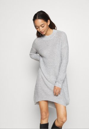 JDYMIGGY MEGAN HIGH NECK DRESS - Jumper dress - cloud dancer/black ply