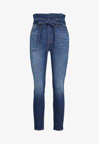 7 for all mankind - PAPERBAG PANT - Slim fit jeans - dark blue - 4