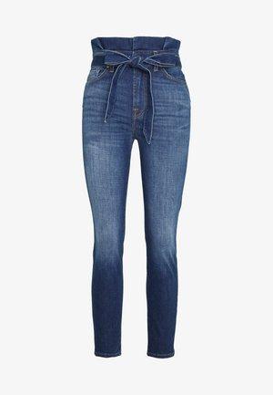 PAPERBAG PANT - Slim fit jeans - dark blue