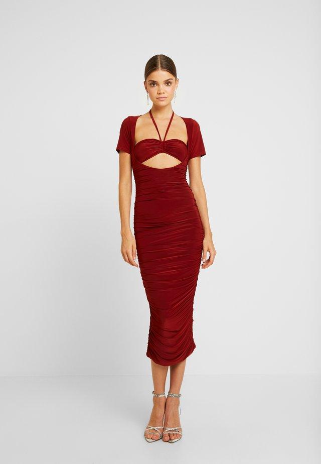 Korte jurk - rust