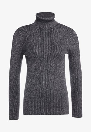 TURTLE NECK - Strikkegenser - gunmetal
