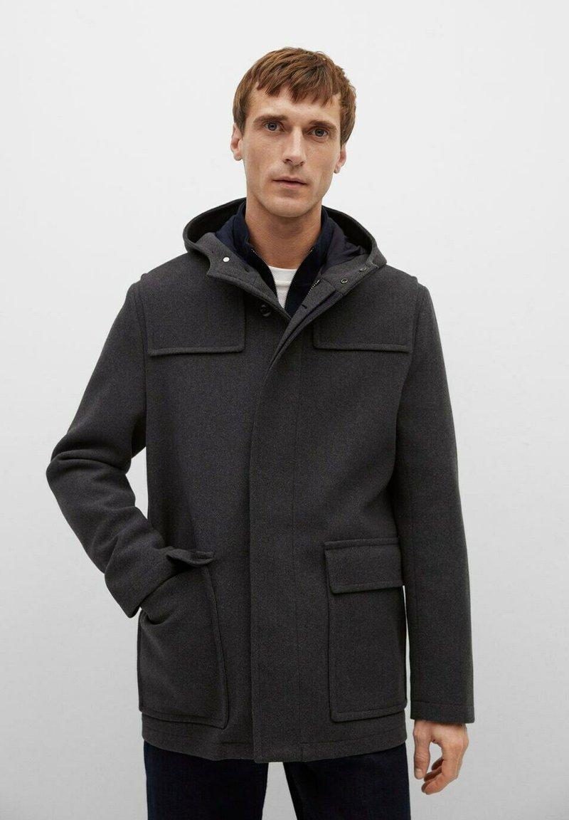 Mango - MEDINA - Classic coat - středně šedá vigore