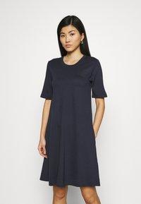 GANT - A LINE DRESS - Jersey dress - evening blue - 0