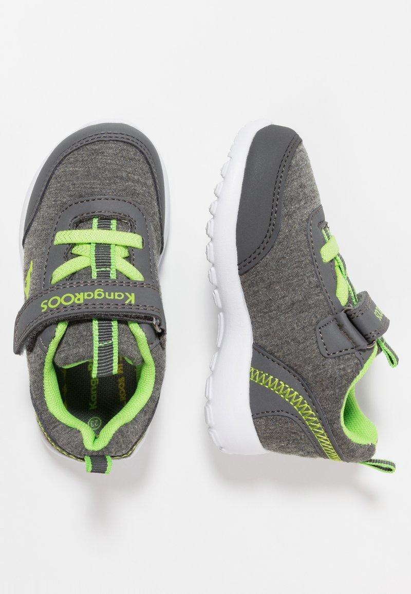KangaROOS - CITYLITE - Sneakers - steel grey/lime