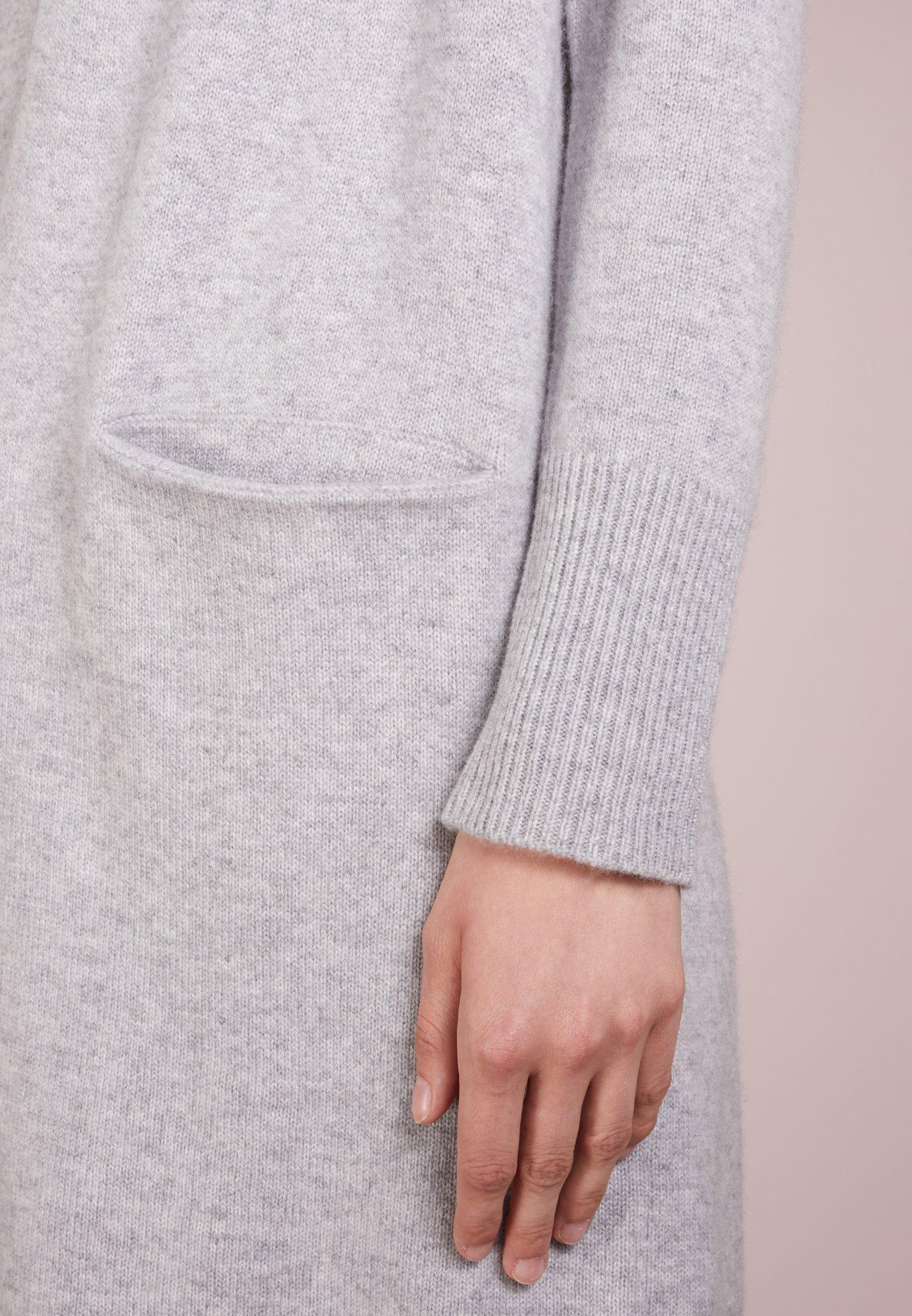 Pure Cashmere Long Cardigan - Light Grey/lysgrå