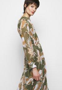 HUGO - ELEKTRA - Shirt dress - olive - 4