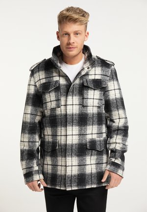 Winter jacket - schwarz weiss
