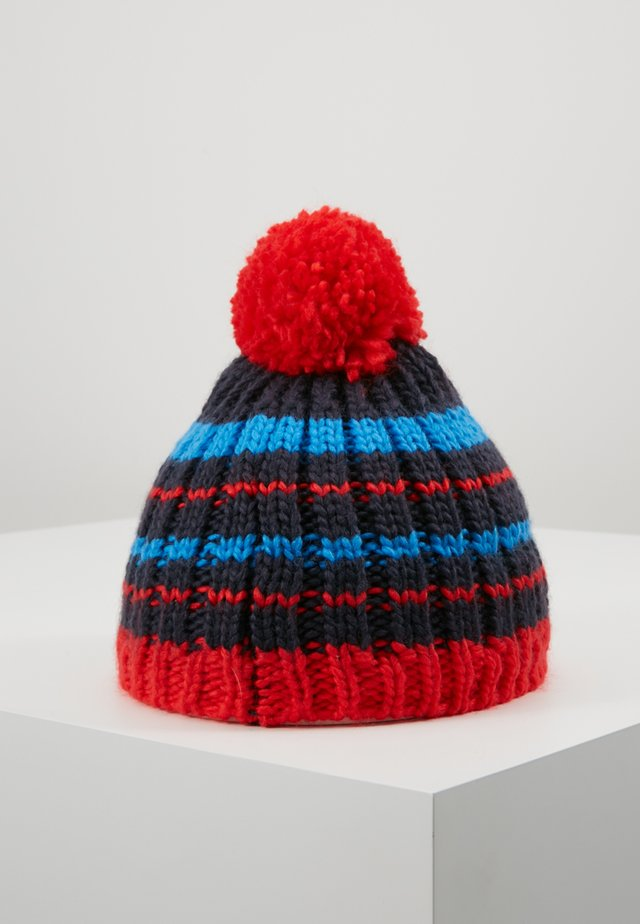 KIDS HAFJELL BOBBLE - Bonnet - navy/med blue/red
