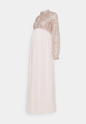 HIGH NECK EMBELLISHED BISHOP SLEEVE - Ballkjole - pearl pink