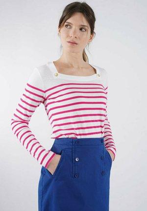 Long sleeved top - blanc/azaléa