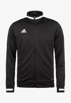 TEAM 19 - Zip-up sweatshirt - black / white