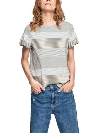 T-shirt print - summer khaki stripes