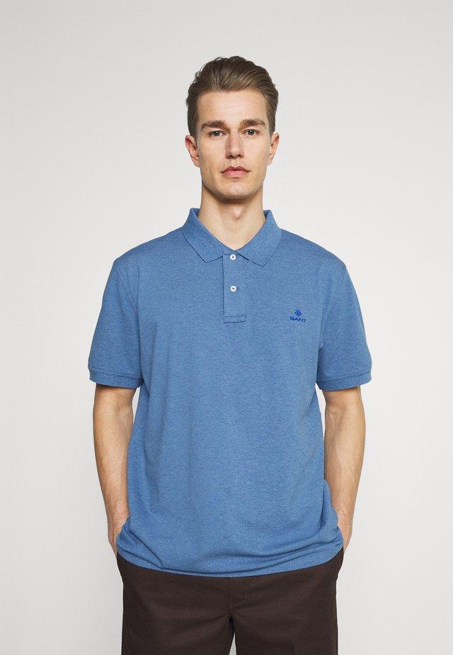CONTRAST COLLAR RUGGER - Poloshirt - denim blue